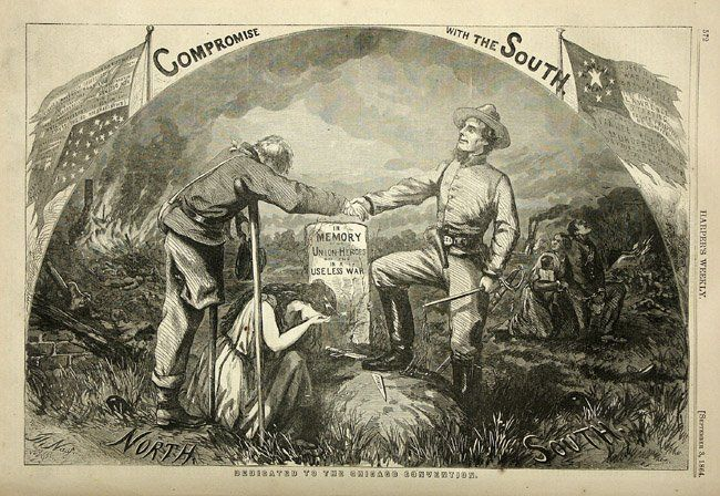 Thomas Nast Political Cartoon Opposing a Compromise with the South